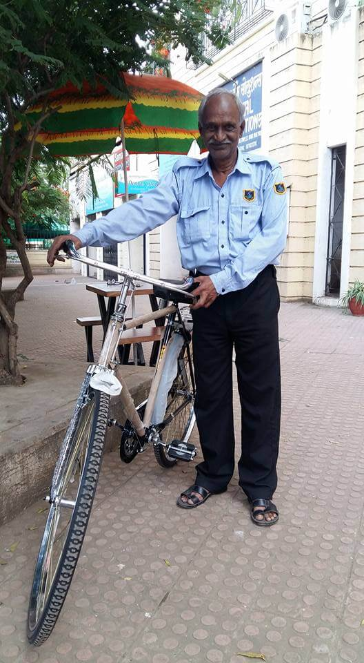 Pune man with new cycle